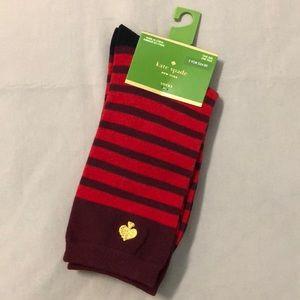 Kate Spade New York Striped Crew Socks NWT